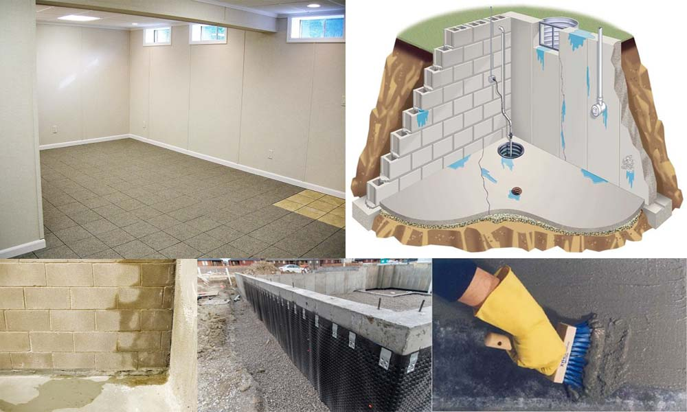 basement waterproofing services, Interior wall waterproofing services, exterior basement wall dampness